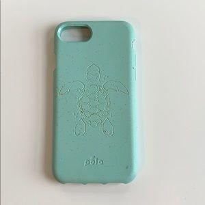 Pela blue turtle case for I phone 7/8